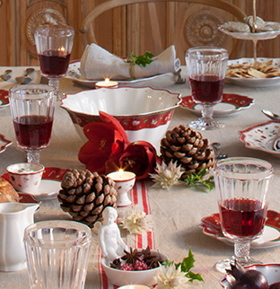 modern or traditional christmas table decor from villeroy boch. Black Bedroom Furniture Sets. Home Design Ideas