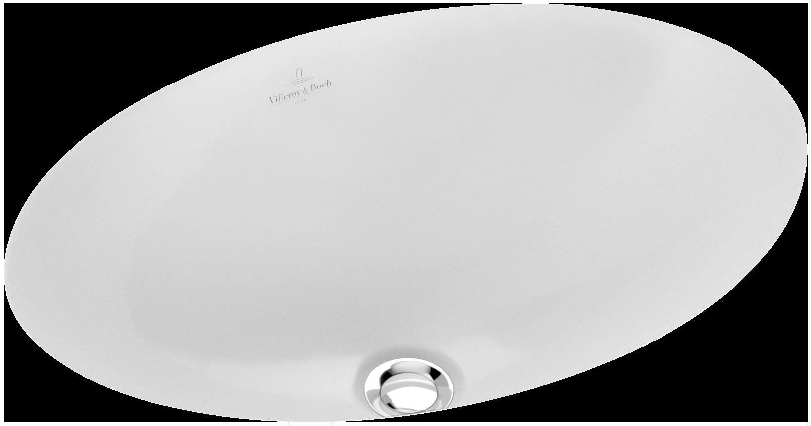 loop & friends undercounter washbasin (oval) oval 6161u3  villeroy