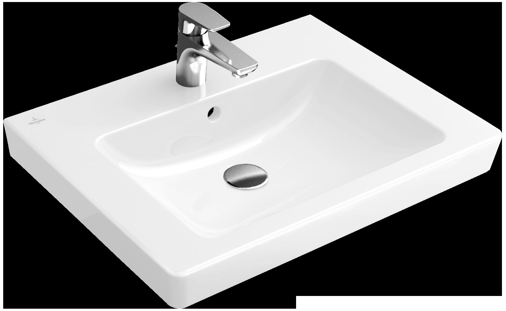 "Sehr Subway Washbasin 24"" Angular 7113U1 - Villeroy & Boch ZS92"