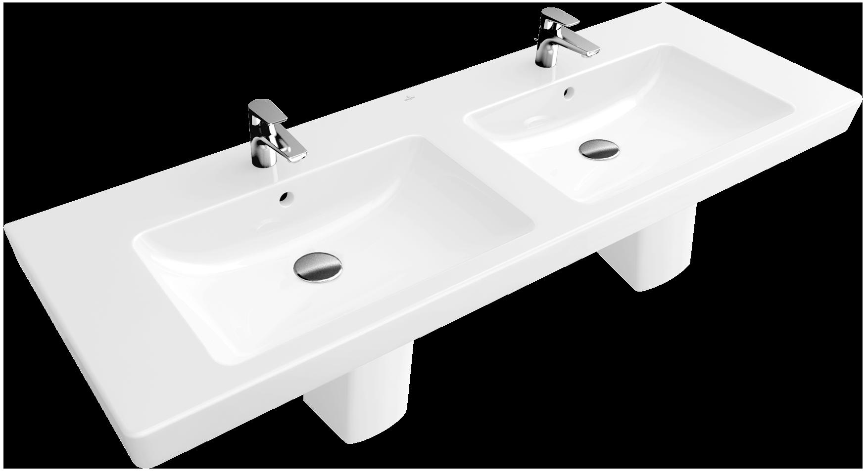 subway double vanity washbasin 51 angular 7175u4. Black Bedroom Furniture Sets. Home Design Ideas